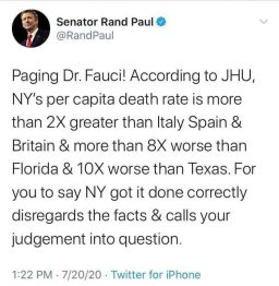 Rand on Fauci