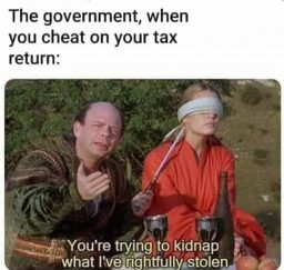 Government when you cheat on your tax return